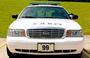 Police Car Closeup