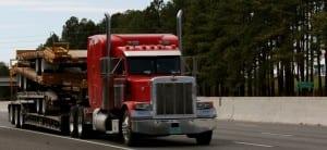 Overloaded trailer