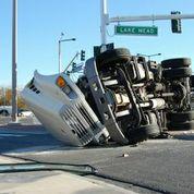 istock-overturned SUV